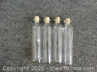 4 Glass Bottles