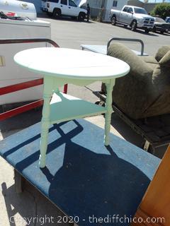 """Light Green Drop Leaf Table 26"""" tall"""