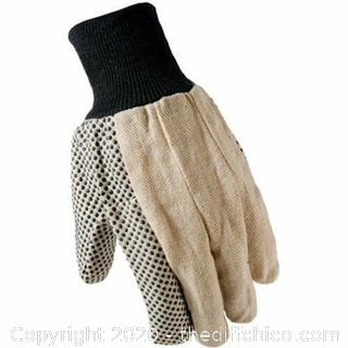 *NEW* Working Hands Dotted Canvas Work Gardening Gloves, 11 Pairs, Large Unisex