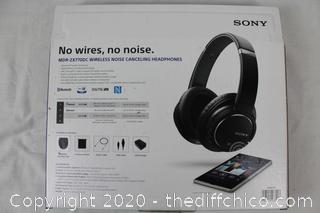 New Sony MDR-ZX780DC Bluetooth & Noise Canceling Headphones Headset +Case Black