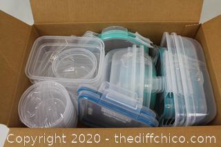 Snapware, 38-piece Plastic Food Storage Set, Airtight Leakproof BPA Free