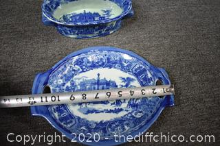 2 Pieces of Victorian Ironstone