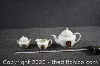 Danbury Mint Hummel Tea Pot, Cream and Sugar