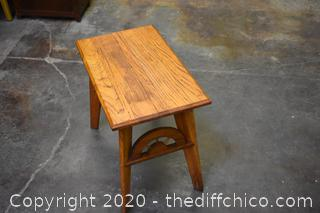 Solid Oak Occasional Table