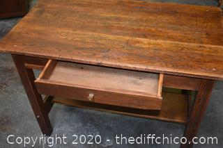 Solid Oak Mission Style Desk