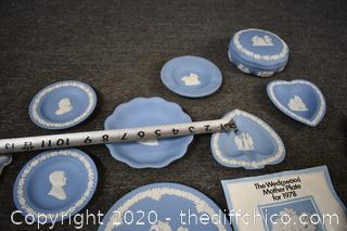 13 Pieces of Blue and White Wedgewood