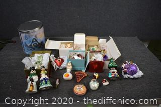 Lot of Glass Christmas Ornaments