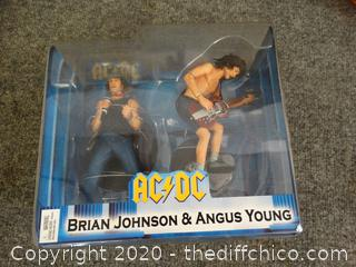 AC/DC  Brian Johnson & Angus Young Figurines NEW
