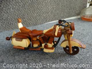 Wooden Harley Motorcycle