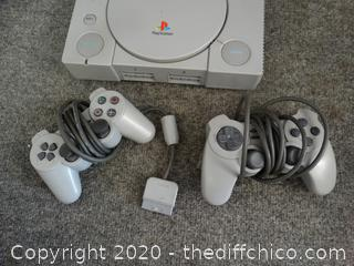 Sony Playstation & 2 Controllers untested no cord