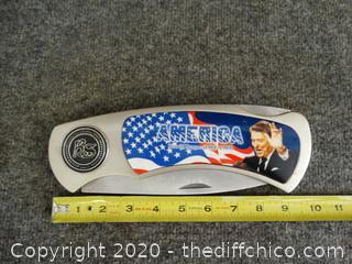 Large President Ronald Reagan Knife 1981-1989