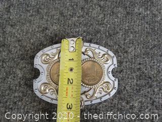 Sacajawea $1 Coin Belt Buckle