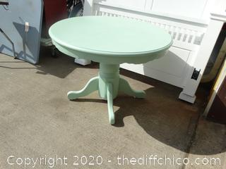Light Green Pedestal Table