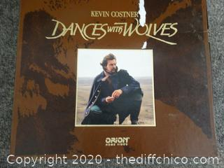 Kevin Costner Dances With Wolves Book And VHS Tapes