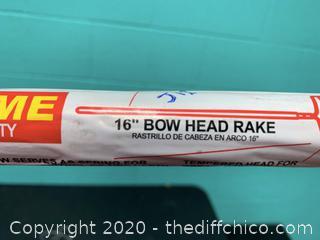"Corona 16"" Bow Head Rake (J12)"