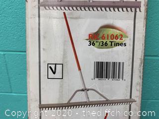 "Corona RK61062 36""/36Tines Aluminum Rack (J24)"