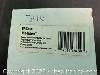 Moen BP6908CH Madison Paper Holder, Chrome (J40)