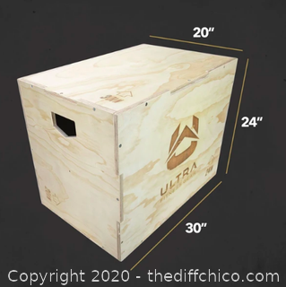 Ultra Fitness Gear 3 in 1 Wood Plyo Box (J74)
