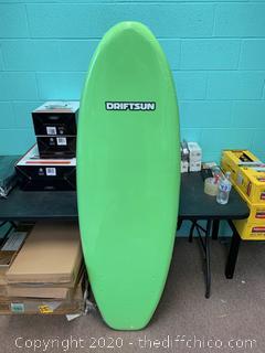 """Driftsun Nymbus Foam Surfboard, EPS Foam Core - Green 66"""""""