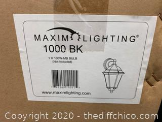 Maxim Lighting 1000BK 1 Light 15 inch Black Outdoor Wall Mount (J128)