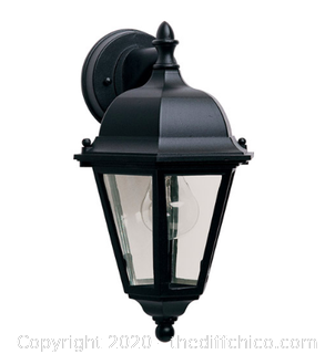 Maxim Lighting 1000BK 1 Light 15 inch Black Outdoor Wall Mount (J129)
