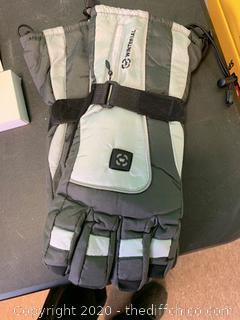 Winterial Heated Snow Gloves - Gray Medium (J136)