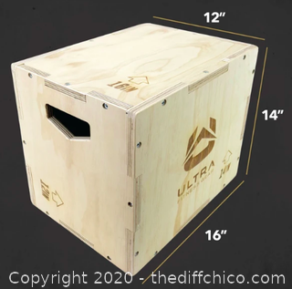 Ultra Fitness Gear 3 in 1 Wood Plyo Box for Jump (J149)