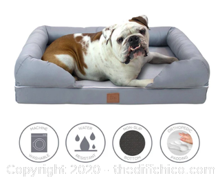 Frontpet Memory Foam Pet Lounger with Removable Slip Cover - Large (J151)