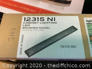 "Kichler 12315NI LED Under Cabinet Light, 18"" - Nickel (J163)"