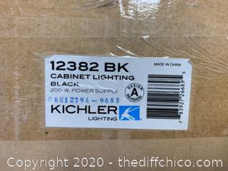 Kichler 12382BK Class 2 120V 200W Remote Power Supply, Black (J170)