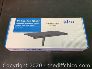 WALI TV Top Shelf 12 Inch Flat Panel Mount (J179)