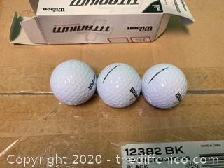 Wilson Titanium Golf Balls - Pack of 3 Balls (J209)