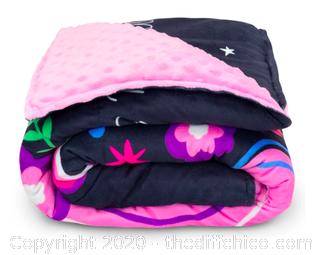 Moonstone Premium Weighted Blanket for Kids - 7 lb Unicorn (J221)