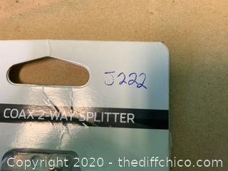 Digital Coax 2 Way Splitter (J222)
