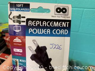 10 Foot Replacement Power Cord (J226)