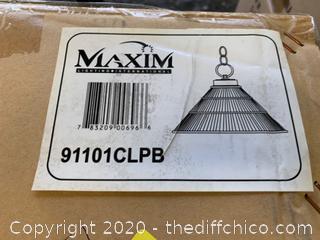 Maxim 91101CLPB, Pendant, 1-Light, 100 Watts, Polished Brass (J252)