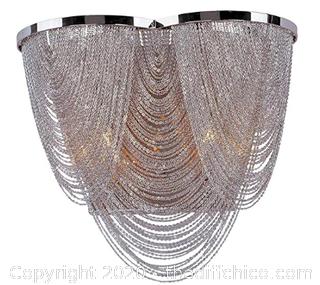 Maxim 21469NKPN Chantilly 2-Light Wall Sconce, Polished Nickel (J258)