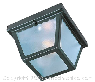Maxim 6203FTBK Outdoor Essentials 1-Light Outdoor Ceiling Mount, Black Finish (J261)