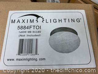 Maxim Lighting 5884FTOI Essentials 588x Flush Mount, Oil Rubbed Bronze (J266)