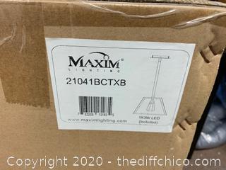 Maxim 21041BCTXB Silhouette LED LED 12 inch Textured Black Pendant (J268)