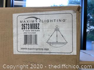 Maxim 2673MRBZ Stratus 5 Light 25 inch Bronze Pendant (J271)