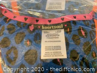 Heartsoul V Neck Womans Scrubs - XS Blue - Qty 2 (J272)