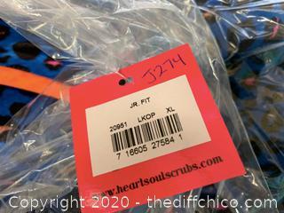 Heartsoul V Neck Womans Scrubs - X-Large Blue - Qty  (J274)