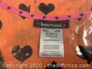 Heartsoul V Neck Womans Scrubs - X-Large Orange - Qty 8 (J278)