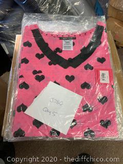 Heartsoul V Neck Womans Scrubs - Medium Pink - Qty 5 (J280)