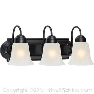 *NEW* Chapter Three-Light Vanity Light Fixture, Oil-Rubbed Bronze Finish