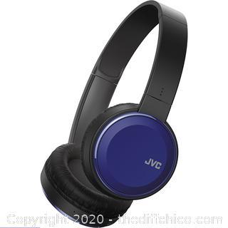 JVC HAS190BTA HAS190BTA Colorful Bluetooth Wireless Headphones - Blue