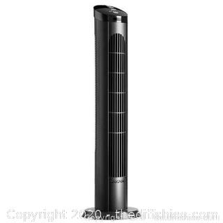 "Cascade 40"" Four Speed Oscillating Ultra Quiet Tower Fan With Remote"