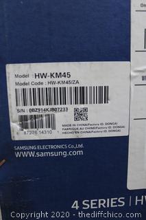 NEW SAMSUNG 2.1 channel 300w sound bar system with Wireless Subwoofer - HW-KM45