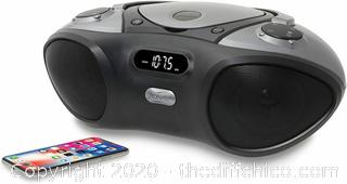 iLive Boombox Bluetooth Speaker with CD Player and FM Radio (Black)